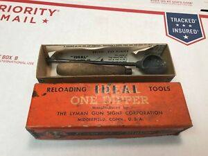 Vintage Lyman Ideal Reloading Tools One Dipper w Box & Paper