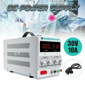 10a 30v Dc Power Supply Adjustable Dual Digital Variable Precision Lab Be