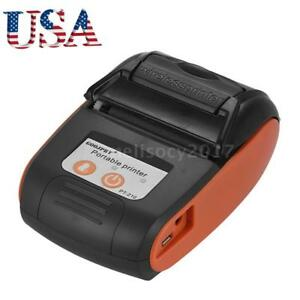 Usb Mini 58mm Bt Wireless Mobile Pos Thermal Receipt Printer For Android Pc K5y1