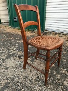 Sweet Antique Chair With Cane Seat