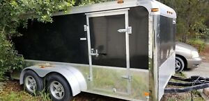 2008 haulmark Enclosed 7x14 motorcycle low Height Stores In Your Garage