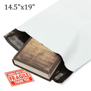 Poly Mailers 14 5x19 Shipping Envelopes Plastic Mailing Bags Self Sealing 2 5mil