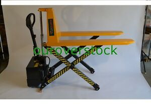 Electric Scissor High Lift Pallet Jack Truck 3 300 Lb 20 X 45