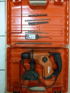Hilti Te 7 Rotary Hammer Drill With Carry Case Extra Bits