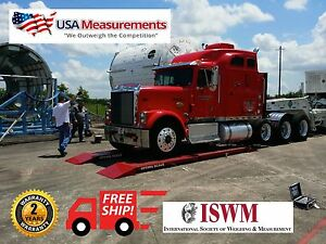 Wireless Truck Axle Scale 12ft Usa Measurements Op 923 Portable Scale 60 000 Lb