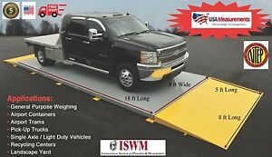 18 Ft X 8 Ft Truck Scale 40 000 Lb Ntep Legal For Trade Axle Scale