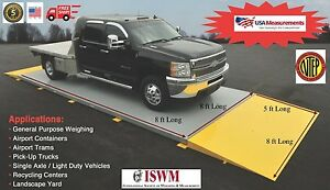 8 Ft X 8 Ft Truck Scale 30 000 Lb Ntep Legal For Trade Axle Scale Car Scale