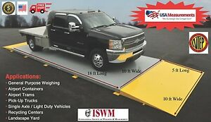 18 Ft X 10 Ft Truck Scale 40 000 Lb Ntep Legal For Trade Axle Scale Car Scale