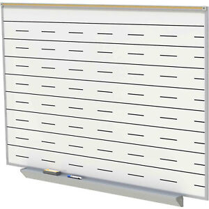 Ghent Porcelain Magnetic Whiteboard With Penmanship Lines White 72 1 2 X