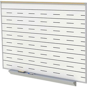 Ghent Porcelain Magnetic Whiteboard With Penmanship Lines White 96 1 2 X