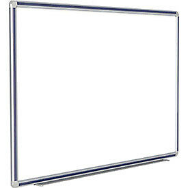 Porcelain Magnetic Whiteboard Silver navy Frame 96 w X 48 h Lot Of 1