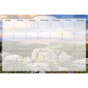 Biggies Dry erase Calendar Sunrise Valley 36 X 24 Lot Of 1