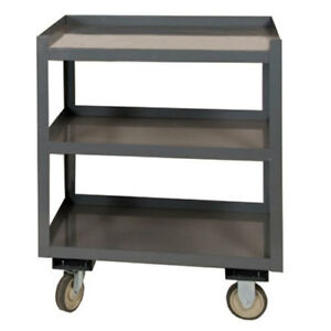 Portable Shop Desk 3 Shelves 24 w X 30 d X 36 h Gray Lot Of 1