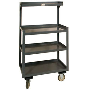 Portable Shop Desk 4 Shelves 24 w X 20 d X 54 h Gray Lot Of 1