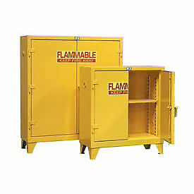Heavy Duty Flammable Cabinet 60 5psc With Manual close Doors 60 Gallon Lot Of