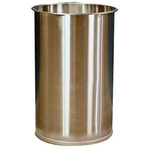 Dc Tech Dm101001 55 Gallon Open Head Stainless Steel Drum Without Lid Lot Of 1