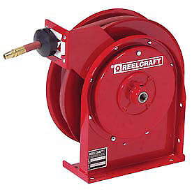 Premium Duty Spring Retractable Reel Grease With Hose 3 8 X 25ft 4000 Psi
