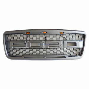 04 08 Ford F150 Grill Raptor Style Grille W Ford 3led Wire Support Frame Us