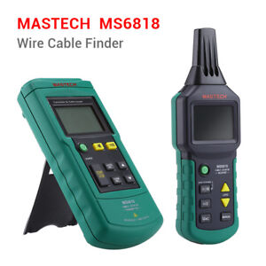 Mastech Ms6818 12 400v Ac dc Wire Cable Tracker Pipe Locator Detector Tester Lcd