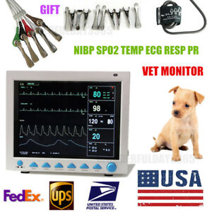 Vet Veterinary Color Lcd Vital Signs Animal Icu Patient Monitor 6 parameters Usa