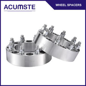 2pc 2 inch 8 Lug Wheel Spacers Adapter 8x6 5 For Chevy C k 2500 3500 Gmc 14x1 5