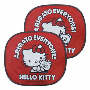 New Hello Kitty Sun Shade Block Shield Visor 2pcs Car Accessories Red