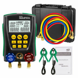 Refrigeration Digital Gauge Meter Hvac Vacuum Pressure Temperature Tester Kit
