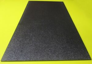 Black Abs Sheet 3 16 187 X 12 X 24 Haircell Textured One Side 2 Units