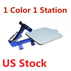 1 Color 1 Station T shirt Silk Screen Printing Machine Screen Printer Us Stock