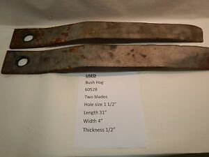 2 bush Hog 60528 Blades Used