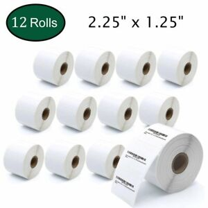 12 Rolls 2 25x1 25 Direct Thermal Shipping Labels 1000 roll Zebra Lp2824 Zp 450