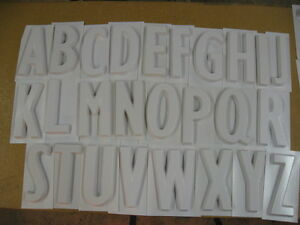 Set Of 26 Letters A z Upper Case 8 Tall Plastic Hollow Back Sign Letter Molds