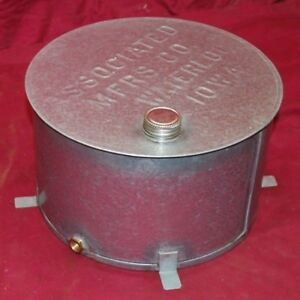3 4 Hp Stamped Associated Gas Engine Motor Hit Miss Throttle Fuel Gas Tank