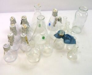 20 Pc Lab Glass Set Aspirators Bottles Flasks Jar 250ml 500ml 1000ml