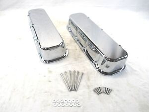 Bbc 454 Aluminum Tall Valve Cover Smooth No Hole Chrome Bpe 2101c