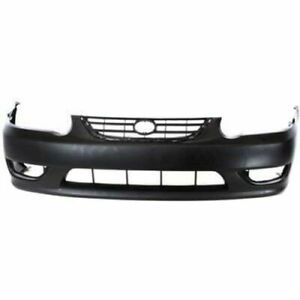 Front Bumper Cover For 2001 2002 Toyota Corolla W Fog Lamp Holes Primed