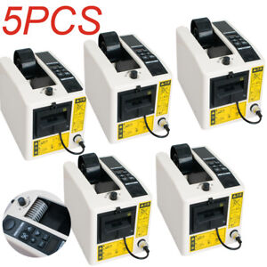 5pcs Electric Automatic Tape Dispensers Adhesive Tape Cutter Packaging Device Us