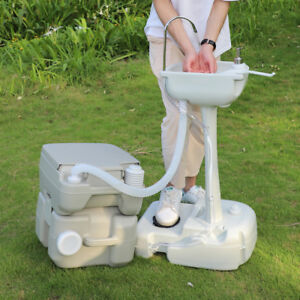 Eco friendly Portable Hand Washing Sink Faucet Station With Toilet Commode Potty