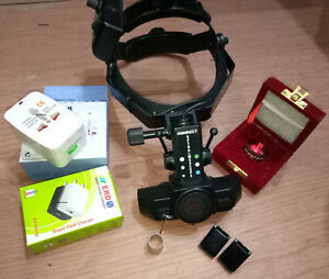 Rechargeable Binocular Indirect Ophthalmoscope Bio With 20d Lens Wooden Case
