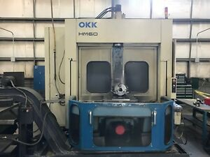 Okk Hm60 Dual 24 x 24 Pallet 30hp Horizontal Machining Center W fanuc 16m Cntrl