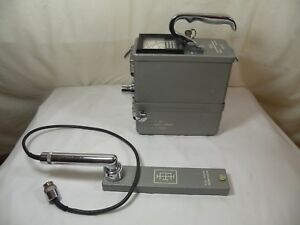 Eberline Pac 4g Alpha Geiger Counter W Ac 2 Alpha Probe Powers Up Please Read