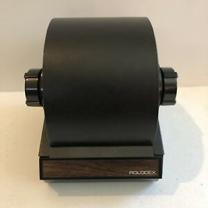 Vintage Rolodex Rotary Black Metal Card File Round 5350 Free Shipping