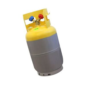 Mastercool 62010 Gray yellow 30 Lb Refrigerant Recovery Tank Without Float Sw