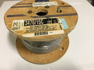 Alpha Wire 3470 15c 300v 28 Awg Braided Tc Shield Wiring 100ft Electrical Cable