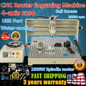 1500w Usb Cnc Router Engraving Machine Engraver For Wood Acrylic 6090 Ball Screw