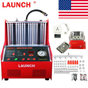 Launch 6 cylinder Cnc602a 110v Ultrasonic Fuel Injector Cleaner Tester Us Stock