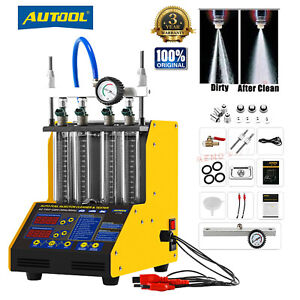 Autool Ct150 Ultrasonic Gasoline Fuel Injector Cleaner Tester For Car Motorcycle