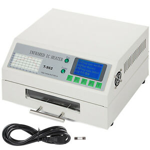 Vevor T962 Infrared Smd Bga Ic Heater Reflow Oven 18 23 5 Cm 800w New Us