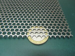 Perforated Staggered Steel Sheet 036 Thick X 24 X 24 156 Hole Dia