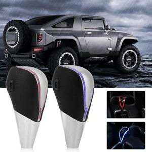 Touch Activated Sensor Led Light Luxury Car Gear Shift Knob Universal Usb Charge